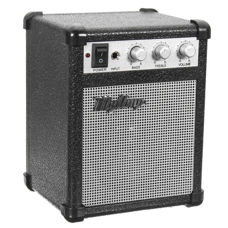 4 inch micro portable 5watt battery powered guitar amp amplifier 4 ohms with usb. Black Bedroom Furniture Sets. Home Design Ideas