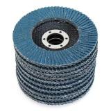 10pcs 115x22mm Flap Sanding Disc 60 80 Grit Sanding Wheel for Angle Grinder