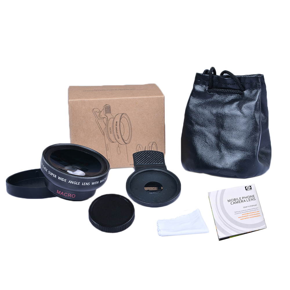 Apexel APL-0.45WM Universal 37MM 0.45x Super Wide Angle Lens with 12.5x Super Macro Lens
