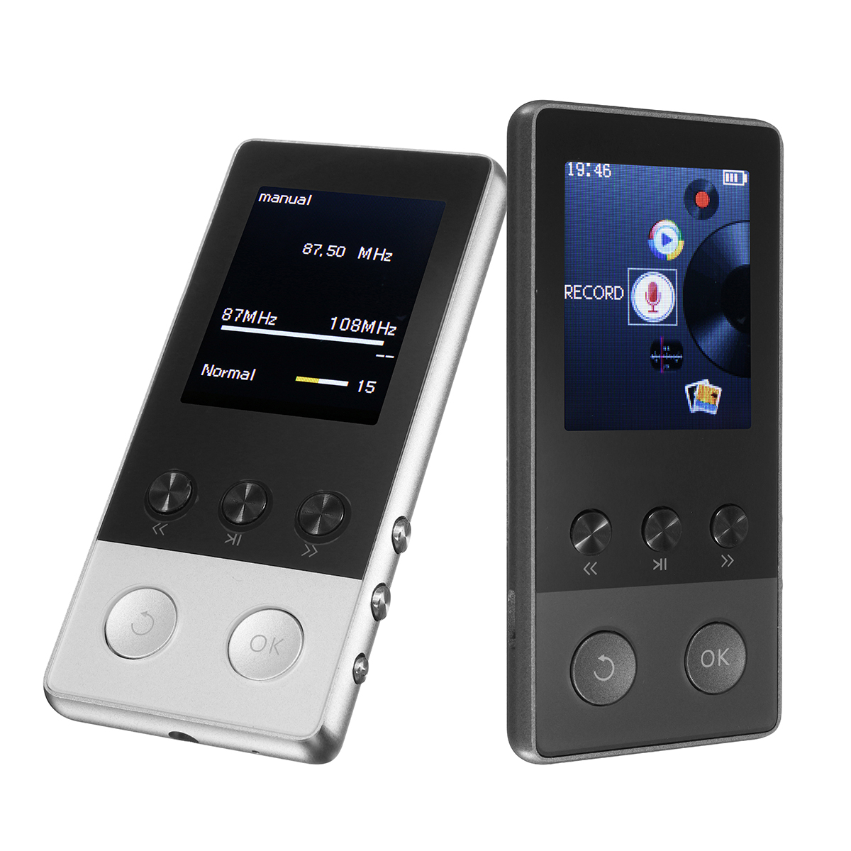 player mp3 music portable lossless 8gb inch function fm tf pedometer hours players audio banggood a5 plus alexnld points