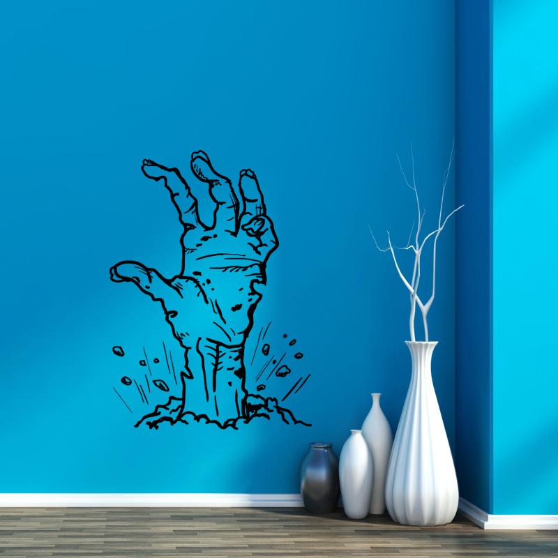Hallowen Ghost Hand Glass Window Decor Wall Sticker Party House Home Decoration Creative Decal DIY Mural Wall Art Sticker