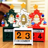 Christmas Creative Gift Mini Wooden Calendar Home Ornament Table Desk Decor