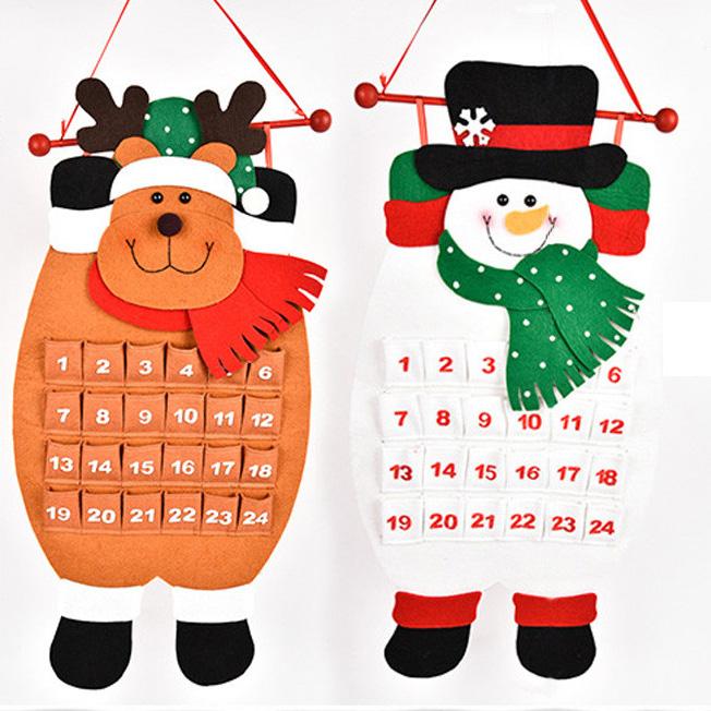 Christmas countdown calendar snowman deer hanging advent for 36 countdown to christmas snowman yard decoration