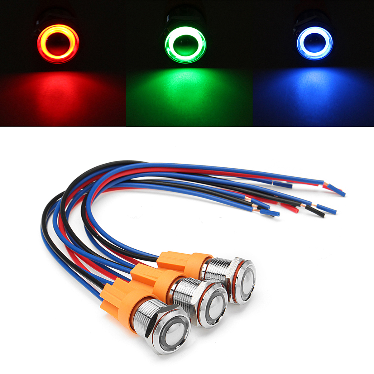12v Off Led Push Button Switch Wiring Harness Switch Self