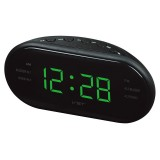 Led AM FM Radio Digital Brand Alarm Clock Backlight Snooze Electronic Designer Home Table Clock Radio Despertador Digital Led