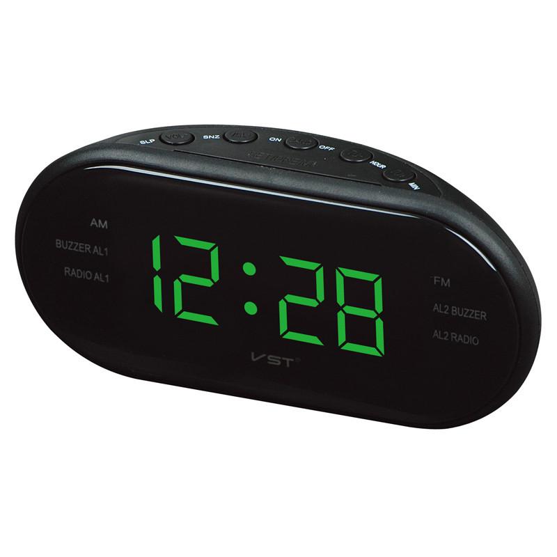 Led Am Fm Radio Digital Brand Alarm Clock Backlight Snooze