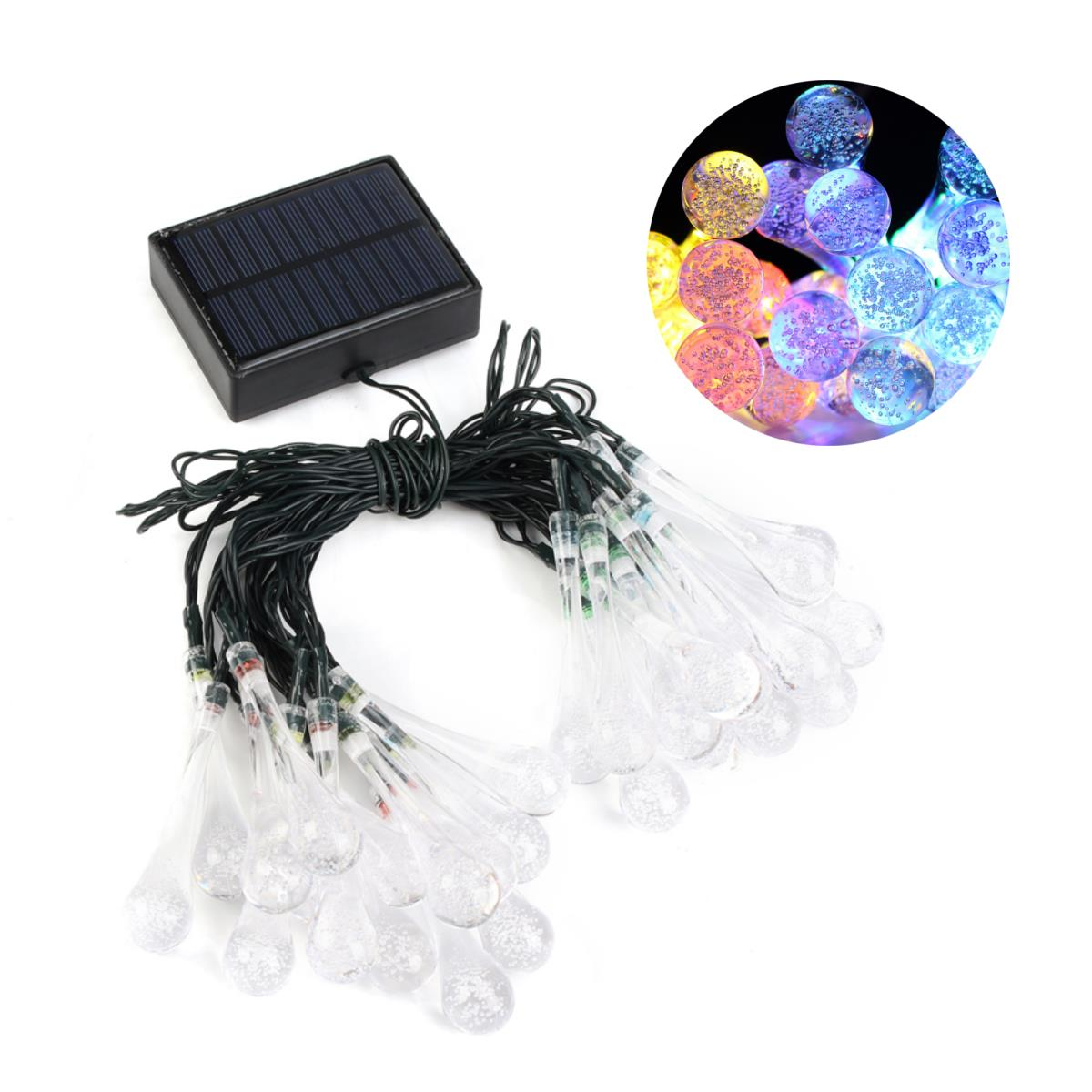 Solar Powered 30LEDs 8 Modes Fairy String Lights for Indoor Outdoor ...