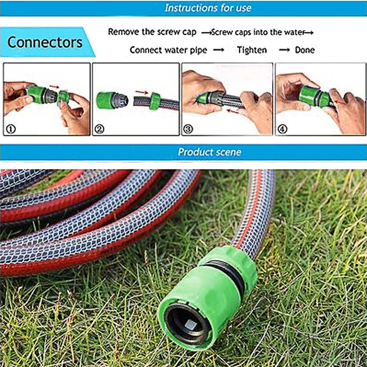 More Details: More Detailed Photos: 10Pcs 1/2 Inch Garden Tap Water Hose ...