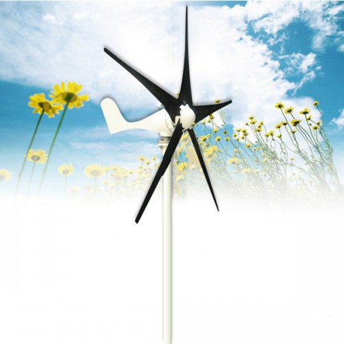 400W DC 12V/24V 5 Blades Wind Turbine Generator with Windmill Charge Controller
