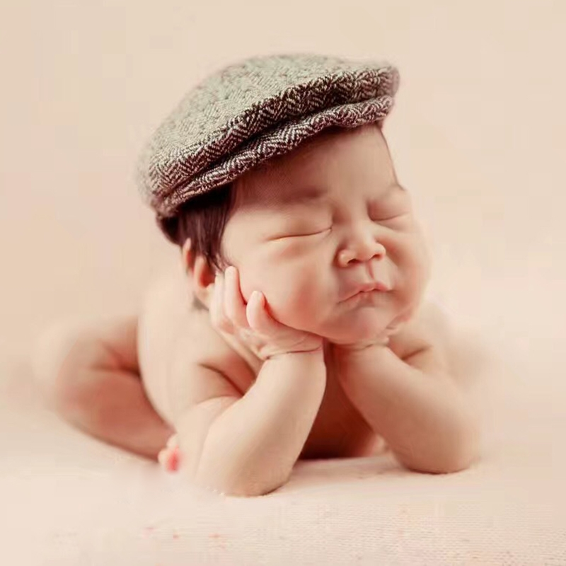 Newborn Baby Photography Props Photo Shoot Outfits Infant Cap Cabbie ... 81cbcbd4084