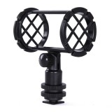 BOYA BY-C04 Camera Microphone Shockmount with Hot Shoe Mount for PVM1000 PVM1000L Microphone (Black)