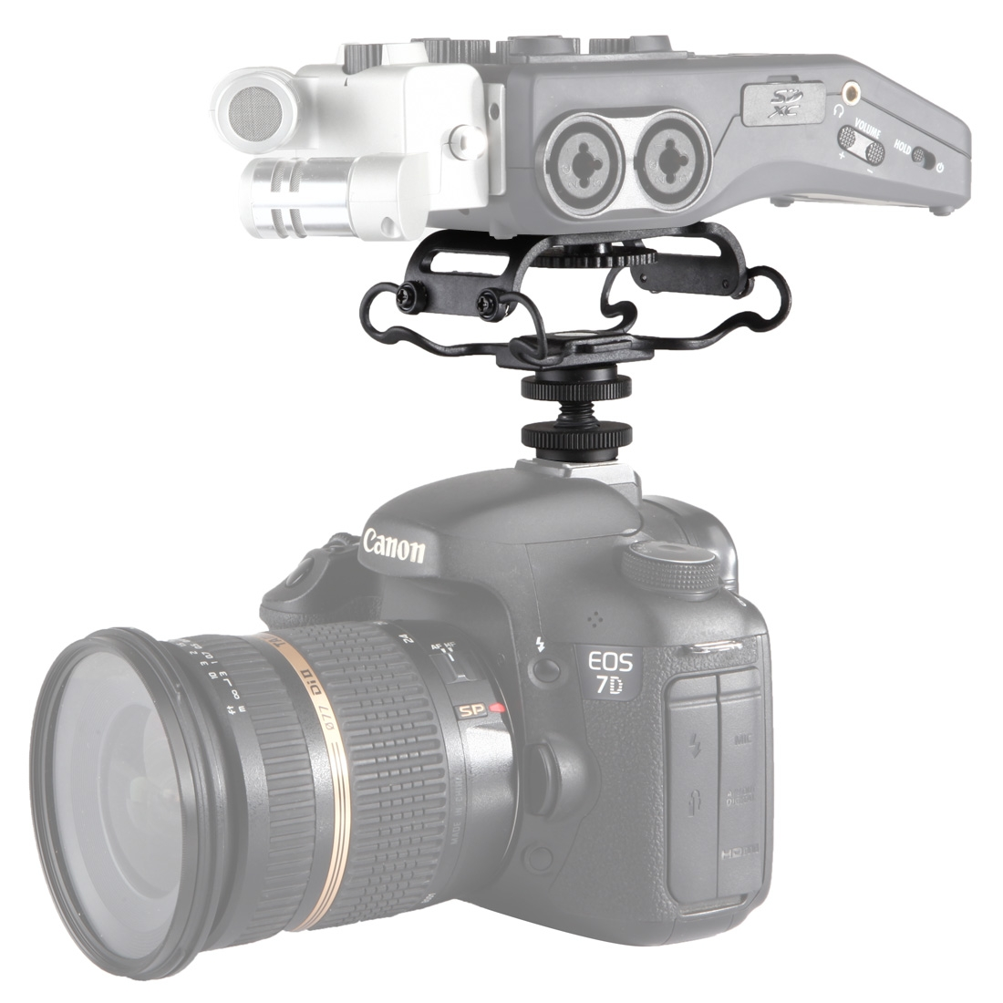 BOYA BY-C10 Universal Camera Microphone Shockmount with Hot Shoe Mount (Black)