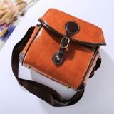 Portable Digital Camera Shoulder Bag Soft PU Leather Bag with Strap, Size: 21cm x 15cm x 20cm (Brown)