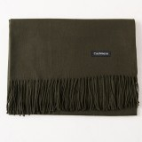 Autumn and Winter Season Classic Solid Color Imitation Cashmere Scarf, Size: 60 * 200cm (Army Green)