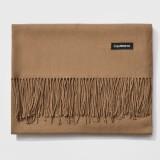 Autumn and Winter Season Classic Solid Color Imitation Cashmere Scarf, Size: 60 * 200cm (Dark Coffee)