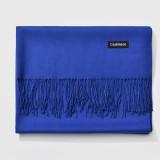 Autumn and Winter Season Classic Solid Color Imitation Cashmere Scarf, Size: 60 * 200cm (Blue)