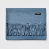 Autumn and Winter Season Classic Solid Color Imitation Cashmere Scarf, Size: 60 * 200cm (Baby Blue)