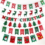 Christmas Party Home Decoration Multi-style Hanging Flags Ornament Toys For Kids Children Gift