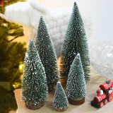 DIY Mini Christmas Tree Small Pine Tree Cedar Placed In The Desktop Home Decor Christmas Decoration Kids Gifts