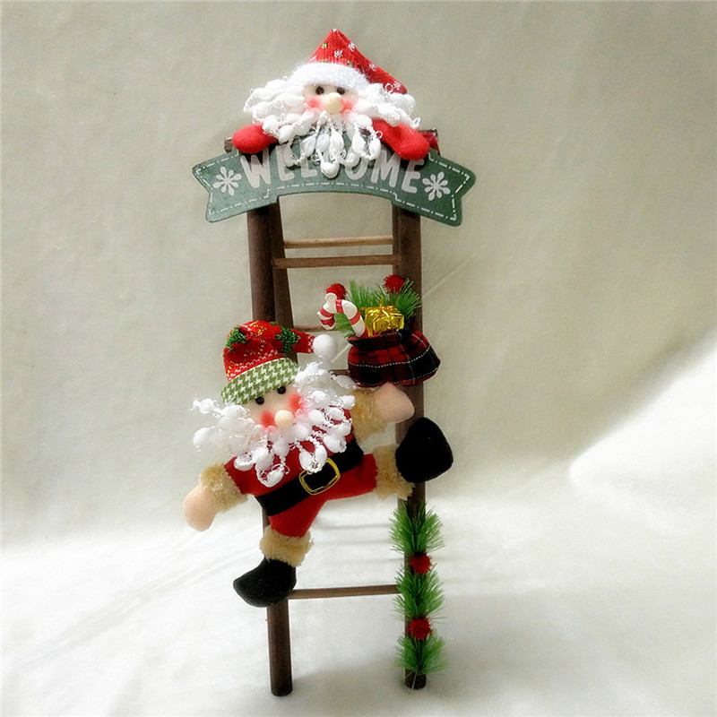 Christmas Party Home Decoration Santa Claus Skiman Ladder Toys For Kids Children Gift