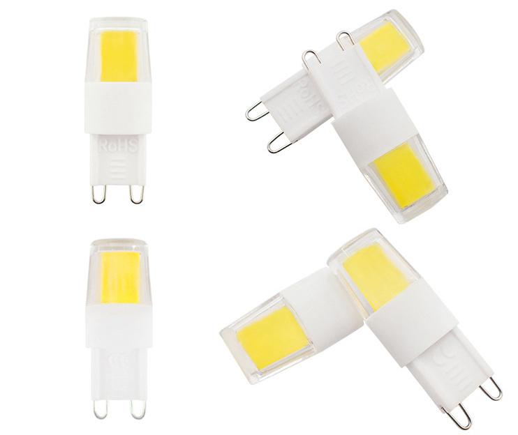 G9 2W 3W COB 2508 1508 Warm White Natural White Pure White LED Light Bulb AC220V