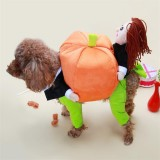 Funny Pet Dog Pumpkin Moveing Suit Pet Party Festival Apparel Clothing Costume Winter Clothes