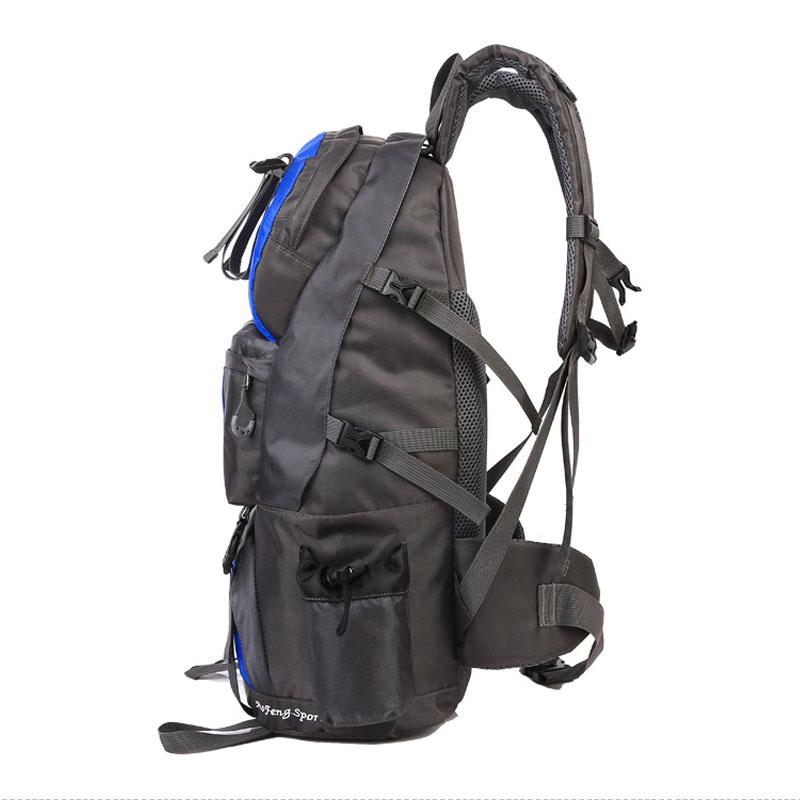 50L Waterproof Nylon Outdoor Travel Mountaineering Backpack Camping Hiking Bag