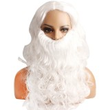 Christmas Party Decoration White Santa Claus Wig With White Beard Toys For Kids Children Props