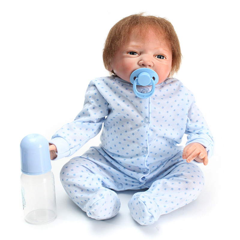 22inch Reborn Doll Full Body Soft Silicone Newborn Baby Doll with Clothes