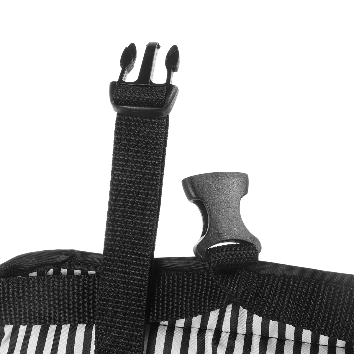 Portable Travel Cotton Knitted Footrest Flight Carry-on Foot Hammock Rest