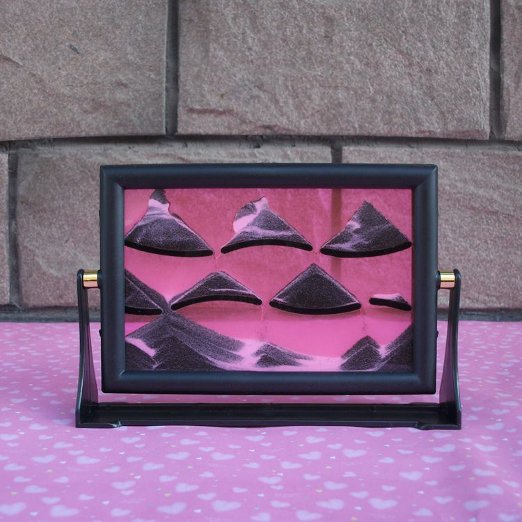 3D Moving Sandglass Sand Picture Frame Home Desk Decor Birthday Gift Ornament
