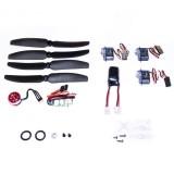 DW Wing C10 2900KV Micro Brushless Motor ESC Servo LiPo Battery Propeller Power System Combos