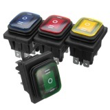 16A 250V Rocker Switch 3 Position 6 Pin Waterproof Rocker Switch With Lamp Light