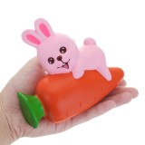 YunXin Squishy Rabbit Bunny Holding Carrot 13cm Slow Rising With Packaging Collection Gift Decor Toy