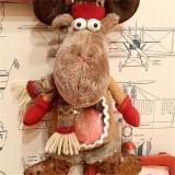 43cm Creative New Christmas Elk Doll Gift Bag Christmas Eve Peaceful Apple Fruit Bag Home Decor
