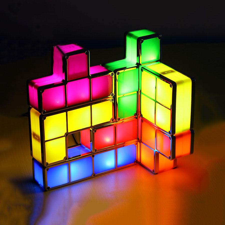 Diy Tetris Puzzle Novelty Led Night Light Stackable Led