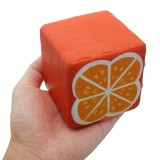 SquishyShop Orange Toast 7.5cm Bread Squishy Soft Slow Rising Collection Gift Decor Toy
