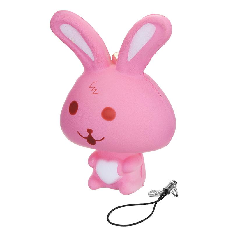 Squishy Rabbit : Squishy Rabbit Bunny 8cm Soft Slow Rising Phone Bag Strap Decor Collection Gift Toy Alex NLD