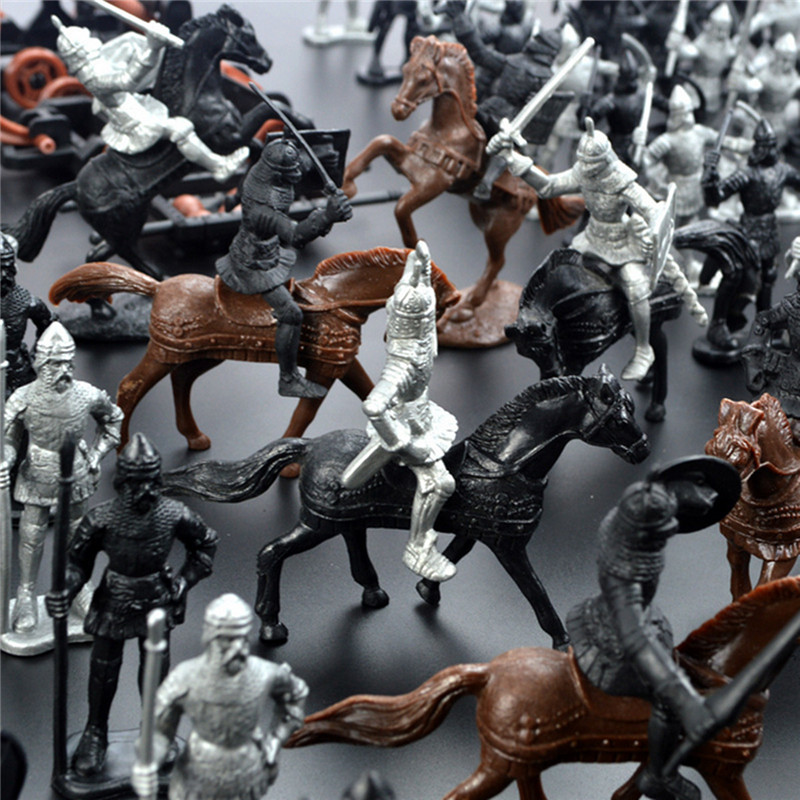 28PCS Soldier Knight Horse Figures Accessories Model For Kids Children Christmas Gift Toys