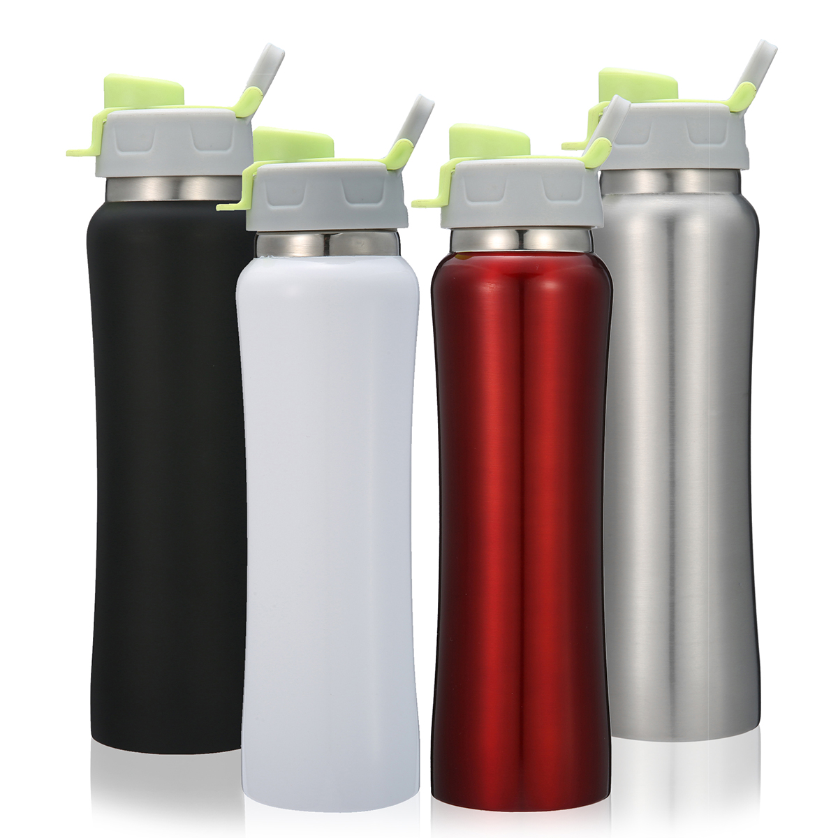 Insulated Stainless Steel Sports Water Bottle Leakproof ...