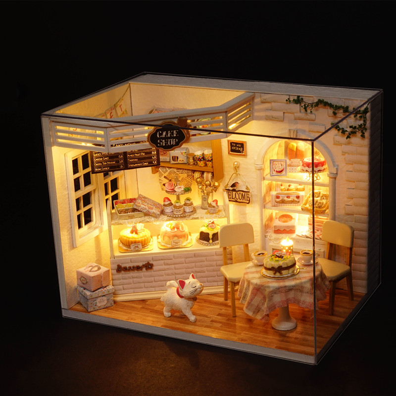 ... f0c9bd66-75f3-403d-a95c-0ac77e26f184.jpg ... & CuteRoom H-014 Cake Diary Shop DIY Dollhouse With Music Cover Light ...