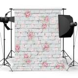 3x5ft Vinyl Wall Flower Brick Photography Background Background Studio Prop