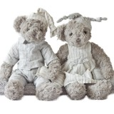 34cm Teddy Bear Stuffed Animal Jessie & Michael Couple Cartoon Plush Toy Cute Bear Doll for Kids Baby Christmas Birthday Gifts