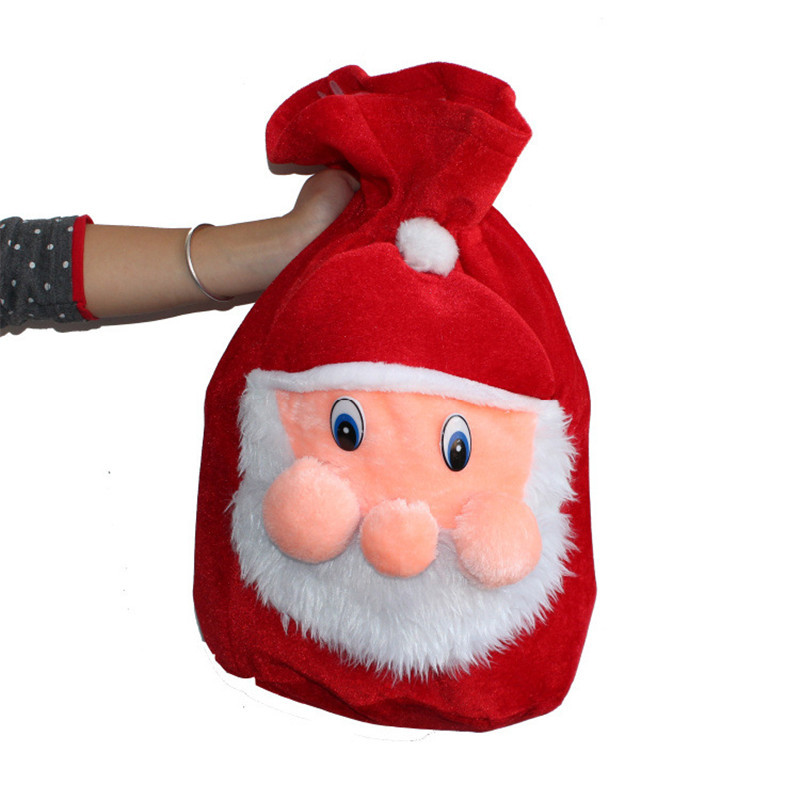 Christmas Party Home Decoration Santa Claus Gift Candy Bag For Kids Children Gift Toys
