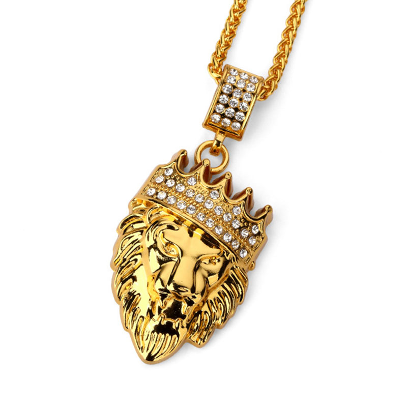 17a7f80db33c0 Hip Hop Fashion Gold Chain King Crown Lion Head Pendant Necklace for Men ·  f618f672-8780-4fd2-8d67-82c168e087d5.jpg ...