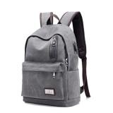 Men Women Casual Canvas Laptop Bag USB Charging Backpack Travel School Rucksack