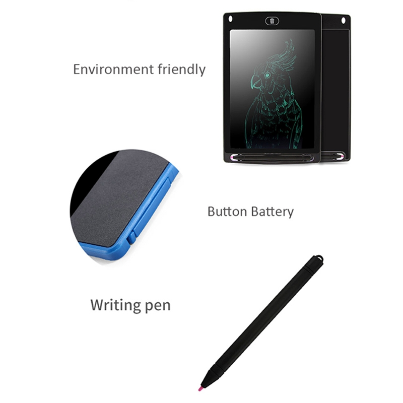 CHUYI Portable 8.5 inch LCD Writing Tablet Drawing Graffiti Electronic Handwriting Pad Message Graphics Board Draft Paper with Writing Pen, CE / FCC / RoHS Certificated (Black)