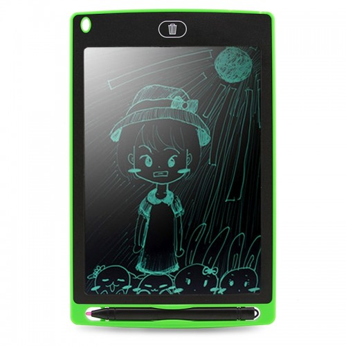 CHUYI Portable 8.5 inch LCD Writing Tablet Drawing Graffiti Electronic Handwriting Pad Message Graphics Board Draft Paper with Writing Pen, CE / FCC / RoHS Certificated (Green)