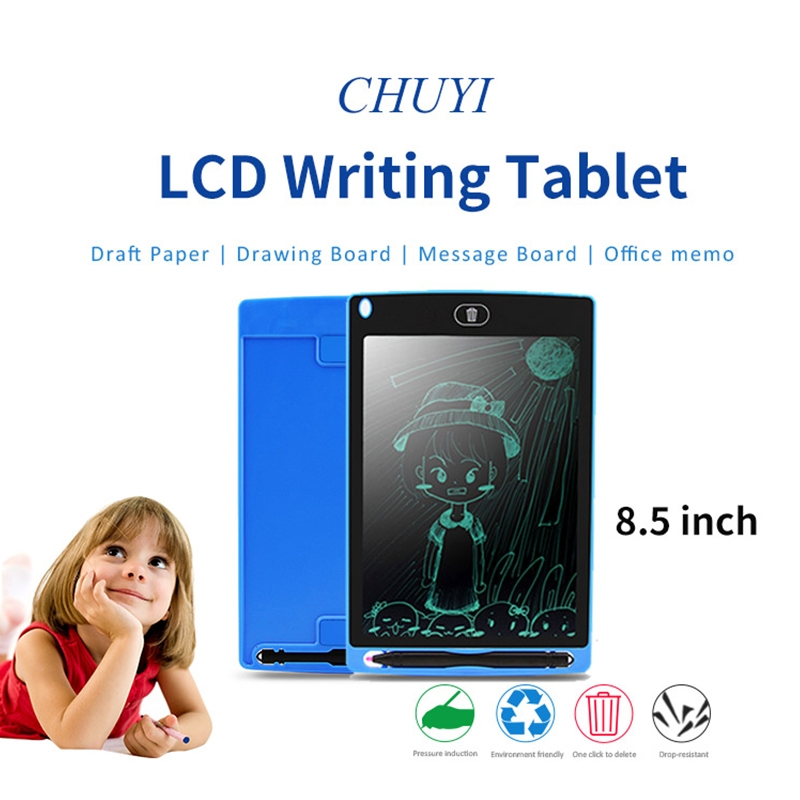 CHUYI Portable 8.5 inch LCD Writing Tablet Drawing Graffiti Electronic Handwriting Pad Message Graphics Board Draft Paper with Writing Pen, CE / FCC / RoHS Certificated (Red)