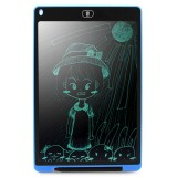 CHUYI Portable 12 inch LCD Writing Tablet Drawing Graffiti Electronic Handwriting Pad Message Graphics Board Draft Paper with Writing Pen, CE / FCC / RoHS Certificated (Blue)